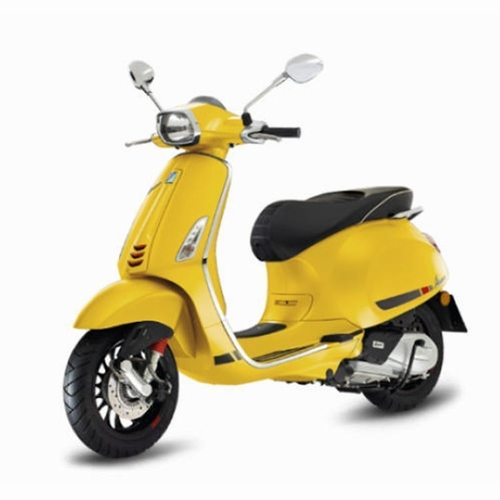 Vespa sprint S mat Geel model 2018